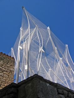 Built by nArchitects in Léren, France with date 2006. Images by Daniela Zimmer. Windshape was an ephemeral structure commissioned by the Savannah College of Art & Design (SCAD) as a venue and g...