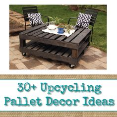30+ Upcycling Pallet Decor Ideas - Visit www.reincarnationsart.com for more upcycling inspiration and products.