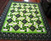SEATTLE SEAHAWKS QUILT by UltimateQuilts on Etsy
