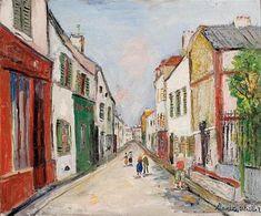 Calle Damiette en Sannois - Maurice Utrillo