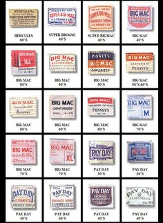 I copied this library of Vintage Workwear Labels to my files a couple years ago...I'm not sure exactly where they came from (google?...