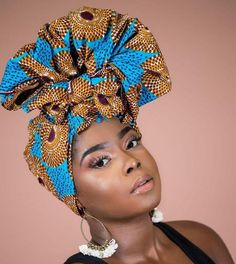 Ankara African clothing Head Wrap. Gift for her! Beautiful head wrap measures at approx. 70 inches long x 14 inches wide. Head wrap fabric has the edges tailored and simple to tie, long and wide enough to wrap any style. Try different styles and feel the beauty in your wrap. Head wrap can also be