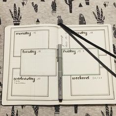 Bullet Journal Weekly Log // bujo weekly spread #bulletjournalweekly #bujoinspiration
