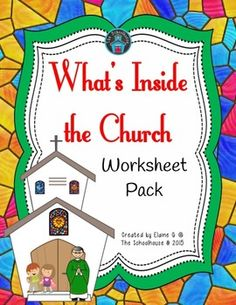 Whats inside the church?  This worksheet no prep pack will help answer that question as to what's inside the church and common items one would see during mass.  There 6 worksheet or activities to do.  They include.What Do You Inside the Church?  For this worksheet, you draw a line from only the objects in the church to the church.