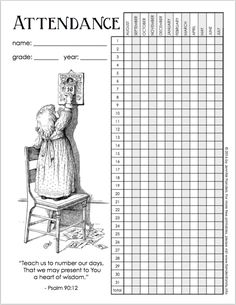Download the Monthly Class Attendance Template from