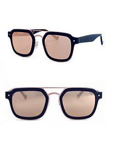 787a449f24 Grey Ant - Notizia 52MM Square Sunglasses Mirrored Sunglasses