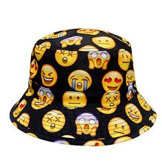 727d0099c4e City Hunter Bd1250 Face Emoji Bucket Hats - Black City Hunter http   www