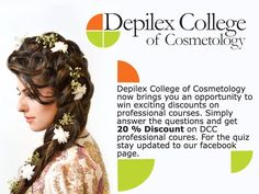 Stay connected for further updates and get a chance to win 20 percent discount on Depilex College of Cosmetology Professional courses. #Depilex #opportunity #DepilexCollegeofCosmetology #Education #Professionals #MasarratMisbah #RedahMisbah #Lahore #Pakistan https://www.facebook.com/depilexcollege
