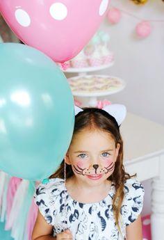 How to Throw the Purr-fect Kitten Party Kindergeburtstag Kätzchen Party Face Painting Little Girl Birthday, Cat Birthday, Birthday Parties, Funny Birthday, Birthday Doodle, Birthday Ideas, Kitten Party, Kitten Cake, Project Nursery