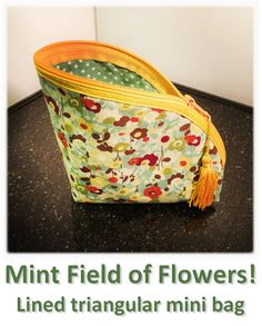Mint Field of Flowers! Mini Bag, Lunch Box, Mint, Flowers, How To Make, Bags, Collection, Handbags, Bento Box