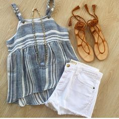 Best Casual Summer Outfits Part 30 Casual Summer Outfits, Short Outfits, New Outfits, Spring Outfits, Trendy Outfits, Cute Outfits, Fashion Outfits, Look Short Jeans, Boho Fashion