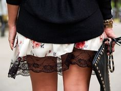 Miss trendy Barcelona: Lace & flowers