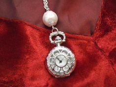Kettenuhren - Kettenuhr Uhrenkette PERLE - ein Designerstück von Aledani bei DaWanda