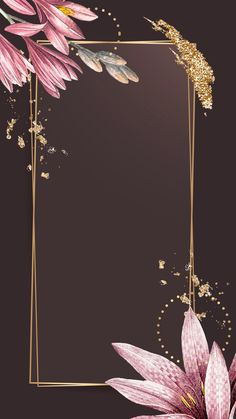 Pink amaryllis pattern with gold frame vector Wallpaper Free, Framed Wallpaper, Flower Background Wallpaper, Glitter Background, Flower Backgrounds, Background Patterns, Wallpaper Backgrounds, Iphone Wallpaper, Fond Design