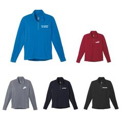 """Promotional logo men's Caltech Knit Quarter Zip with Long Sleeves : Reliable winter wear that allow users to stay warm and comfortable. Available Colors: Black, Navy, Olympic Blue, Steel Grey, Vintage Red. Product Size: S, M, L, XL, 2XL, 3XL, 4XL, 5XL. Imprint Area: Centered on Left Chest Right Chest 3.00"""" H x 3.00"""" W. Material: 87% Polyester 13% Spandex Jersey knit.  #ootd #menswear #promotionalproduct"""