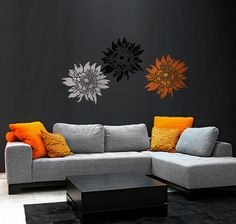 Flower Stencil Chrysanthemum Grande LG  by CuttingEdgeStencils, $39.95