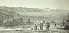 A view from a park from Antoine Melling's Voyage pittoresque de Constantinople et des rives du Bosphore.