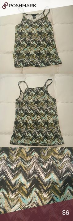 """Rue21 Women's Print Tank Top What's a wardrobe with out a little earthy pizazz? Put that extra """"umph"""" in your closet with this little number! 95% Cotton, 5% Spandex MADE IN CHINA  Reasonable offers welcomed No trades Rue21 Tops Tank Tops"""