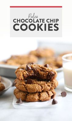 Say hello to the best chocolate chip cookies on the internet! These ooey-gooey healthy almond flour chocolate chip cookies are naturally sweetened and grain-free. And guess what? They don't taste healthy! Paleo Cookie Recipe, Paleo Cookies, Gluten Free Cookies, Cookie Recipes, Healthy Crockpot Recipes, Healthy Dessert Recipes, Healthy Baking, Baking Recipes, Healthier Desserts
