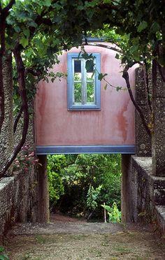 Douro litoral-miradouro,garden at Casa de Pascoaes, Amarante. Portugal