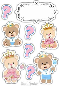 Diy And Crafts, Crafts For Kids, Paper Crafts, Moldes Para Baby Shower, Photobooth Template, Cupcake Toppers Free, Bear Theme, Girls Album, Baby Shawer