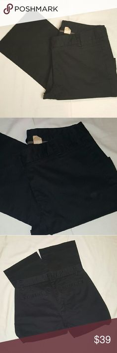 J. Crew black pants J. Crew black pants in great condition, size 2 city fit. 34in from hip to bottom 24in from hem to bottom.w J. Crew Pants