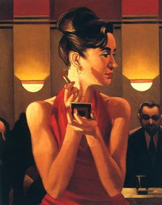 Working the Lounge,   Jack Vettriano