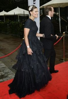 Swedish Crown Princess Victoria and Prince Daniel arrives the gala dinner events for the World Childhood Foundation, Berns, Stockholm, 2014-09-08