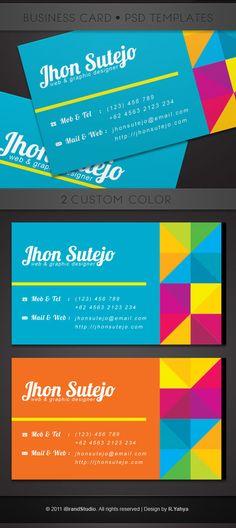 Freebie : Creative color business card template