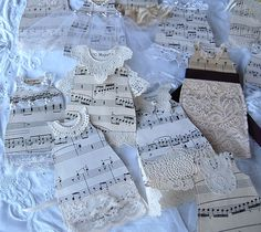 pretty things from paper a special order for a bridal shower sheet music wedding gowns i loved crea