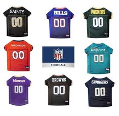 0ee10dae3 -CLEARANCE- NFL football SMALL Size Pet Dog   Cat Jerseys Multiple Teams   PetsFirst