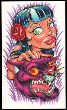 The Art of Tony Ciavarro ( Home) Weird Tattoos, Skull Tattoos, Tattoo Sketches, Tattoo Drawings, Colored Tattoo Design, Tatuagem New School, Pokemon Tattoo, Tattoo Stencils, Neo Traditional Tattoo