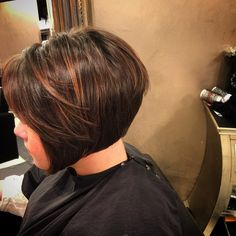 #angledbob #classic #lowlights #parlour3 #beautifulhair #hairbymorganjames #chocolatehaircolor #perfection #shiny #oribe #redken