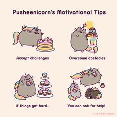 Pusheen : Pusheenicorn's Motivational Tips - Pusheen