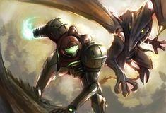 Samus vs Ridley by Jeex-Farfadet