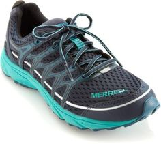 Merrell Mix Master Move Glide Trail-Running Shoes - Women's   Trail runners or lightweight hiking boots are a good size/weight for the hiking we'll be up to. Look for good traction and the support for arch/ankle that you personally need.