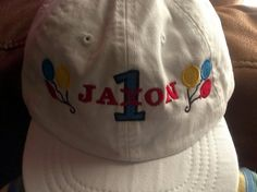 Personalized Birthday infant Baseball Hat by EmbroiderybySharon $14.95