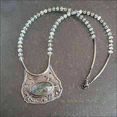 Strukova Elena - авторские украшения - Ожерелье с аквамаринами
