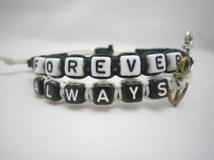 Couples Bracelets His and Hers Bracelets Always by WearingPretty, $16.99