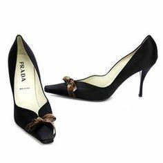 Prada Black Satin Bow Pumps/Heels - $119.99