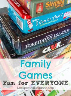 Find some great games for a Family Game Night that are fun for the Entire Family!  Even games that a kindergartener can play!
