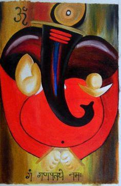Ganesha Drawing, Lord Ganesha Paintings, Ganesha Art, Krishna Painting, Madhubani Painting, Shri Ganesh, Ganesh Pic, Wow Painting, Kerala Mural Painting