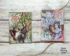 ATC Swap with Mark Montano - Fairy ATC's created by Carmen Whitehead Designs Atc Cards, Artist Trading Cards, Fairy Art, Tim Holtz, Be My Valentine, Stencils, Diy Projects, Painting, Products