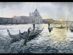 Grzegorz wrobel polish painter  Venice