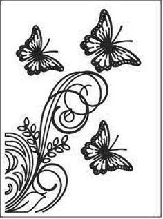 Boutique scrapbooking - Embossage BigShot gaufrage fond papilons