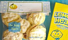 Say you're sorry with a bag of lemon cookies or lemon candy and this cute printable!  AMothersShadow.com