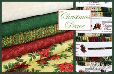 You can never have too much Christmas fabric. Christmas Peace by Whistler Studios for Windham Fabrics