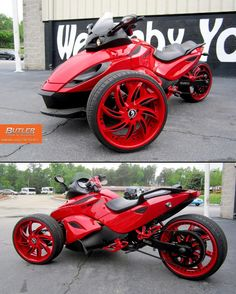Can-Am Spyder=that's different THIS IS ONE OF THE BEST ONES I'VE SEEN YET!!!