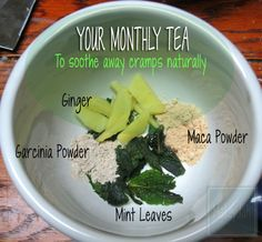 All natural tea for menstrual cramp relief.