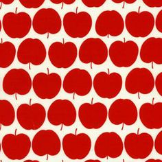 apple motif always been a favourite - noting two directional print